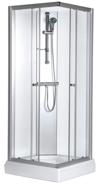 Låg duschkabin med tak
