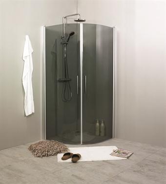 Rökfärgad duschvägg