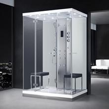 duschkabin med ånga